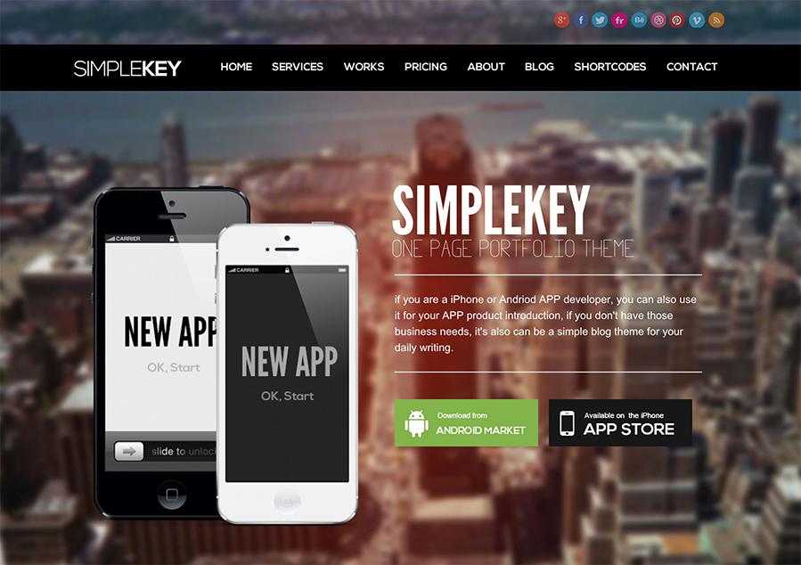 SimpleKey Theme